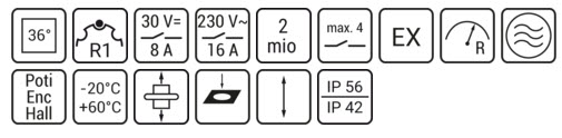 Cần gạt điều khiển ST1 Spohn Burkhardt   Joysticks Spohn Burkhardt