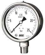 Đồng hồ đo áp suất có dầu Wise P258 - Thiết bị đo áp suất có dầu P258 - Đồng hồ áp suất có dầu Hàn Quốc P258