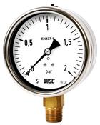 Đồng hồ đo áp suất Wise P253 - Đồng hồ đo áp suất chân đồng Wise P253